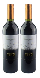KIT YUYO BONARDA MALBEC 2 GRFS 750ML.