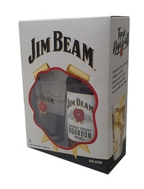 Kit Whiskey Jim Beam White 1 Litro + 1 Copo