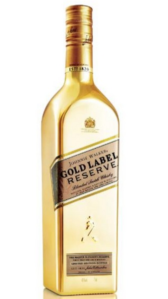 Johnnie Walker Gold Label Garrafa Dourada 750ml Museu Da