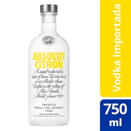 Absolut Vodka Citron Sueca 750ml
