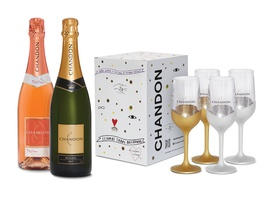 Kit 2 garrafas de Chandon 750ml + Chandon Box com 4 Taças Exclusivas